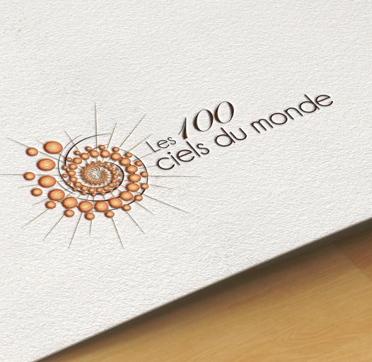 Création de l'identité visuelle logo Irigny Lyon association Les 100 ciels du monde