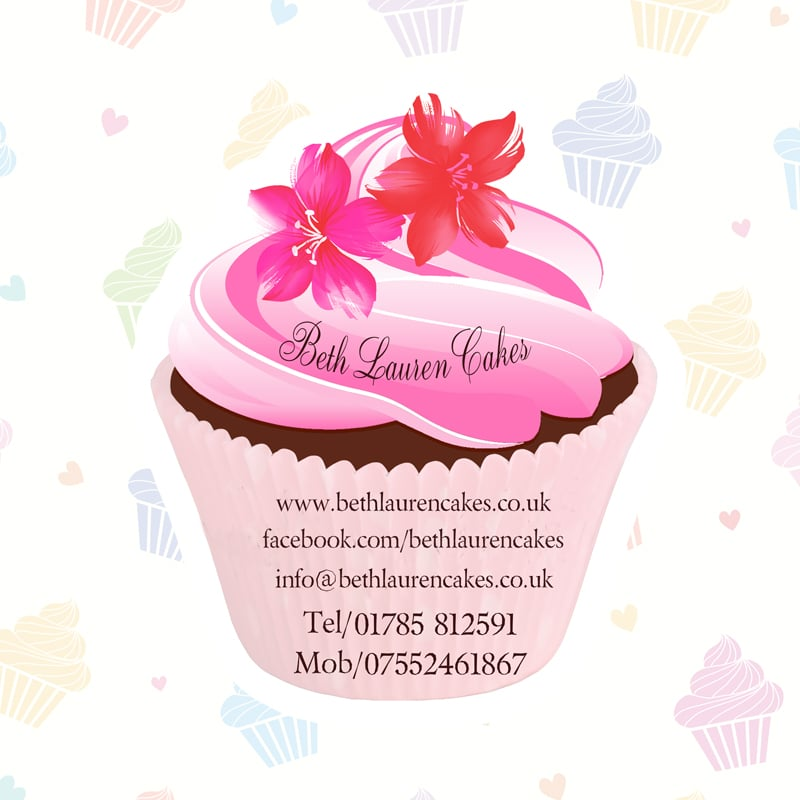 Creation carte de visite flyer cupcake cakegraphiste Lyon Irigny